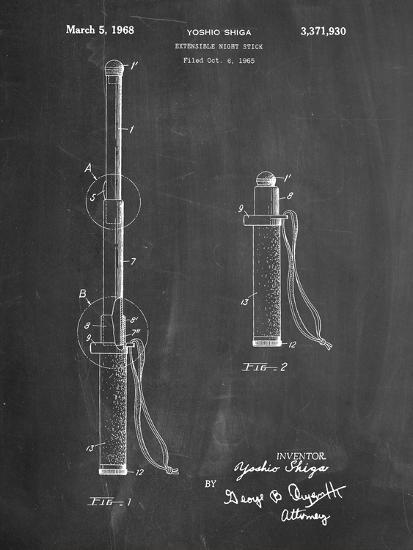 Night Stick Patent-Cole Borders-Art Print