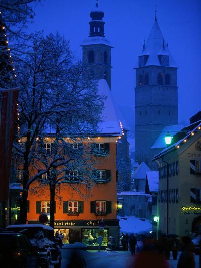 Night Time in Kitzbuhel, Austria-Walter Bibikow-Photographic Print