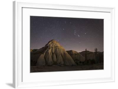Night Time in the Rose Valley Showing the Rock Formations and Desert Landscape Light-David Clapp-Framed Photographic Print