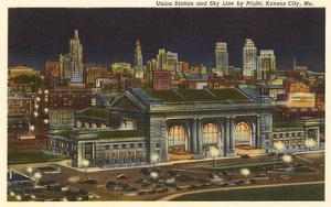 Night, Union Station, Kansas City, Missouri