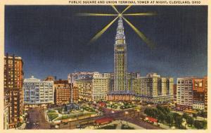 Night, Union Terminal Tower, Cleveland, Ohio