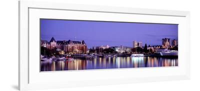 Night, Victoria, British Columbia, Canada--Framed Photographic Print