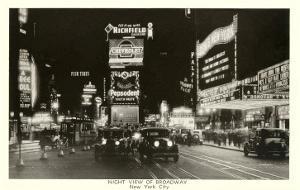 Night View of Broadway, New York City, Photo