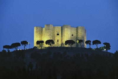 Night View of Castel Del Monte (Castle of Mount)--Photographic Print