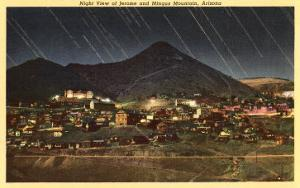 Night View of Jerome and Mingus Mountain, Arizona