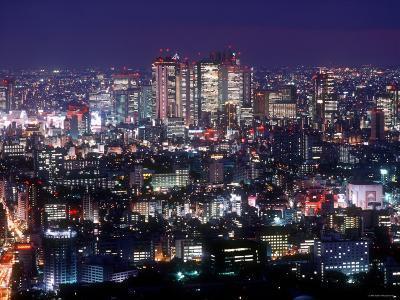 Night View of Shinjuku--Photographic Print