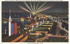 Night View of Sky Ride, Chicago World's Fair