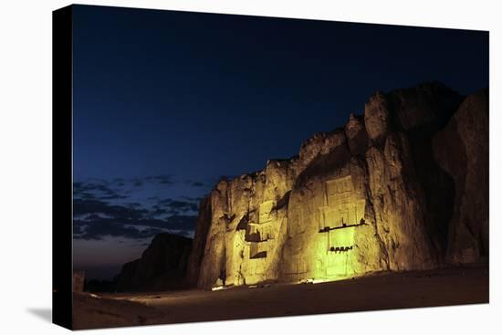 Night View of the 2500-Year Old Tombs of Ancient Persian Kings of the Achaemenid Empire-Babak Tafreshi-Stretched Canvas Print