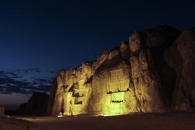 Night View of the 2500-Year Old Tombs of Ancient Persian Kings of the Achaemenid Empire-Babak Tafreshi-Photographic Print
