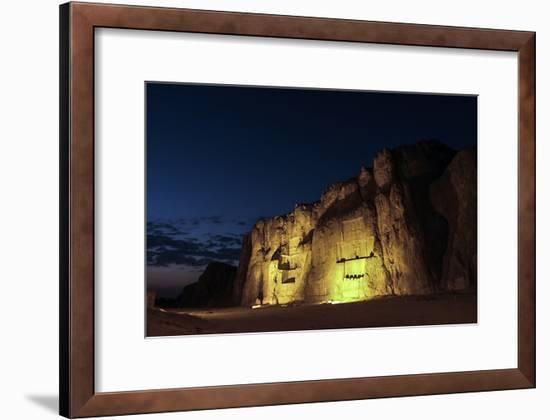 Night View of the 2500-Year Old Tombs of Ancient Persian Kings of the Achaemenid Empire-Babak Tafreshi-Framed Photographic Print