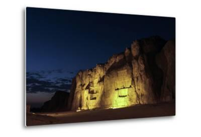 Night View of the 2500-Year Old Tombs of Ancient Persian Kings of the Achaemenid Empire-Babak Tafreshi-Metal Print