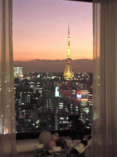 Night View of Tokyo Tower from Another Building-Richard Nowitz-Photographic Print