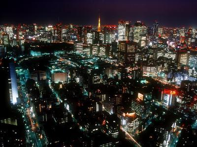 Night View of Tokyo Tower--Photographic Print