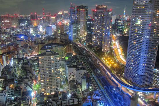 Night View of Tokyo-Takashi Fujimori-Photographic Print