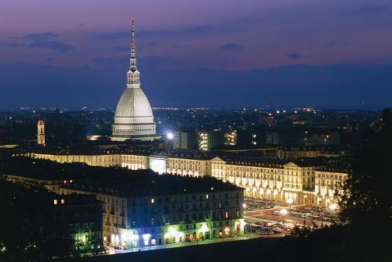 Night View of Turin--Photographic Print