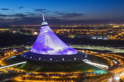 Night View over Khan Shatyr Entertainment Center, Astana, Kazakhstan, Central Asia-Gavin Hellier-Photographic Print
