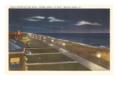 Night, Virginia Beach, Virginia--Art Print