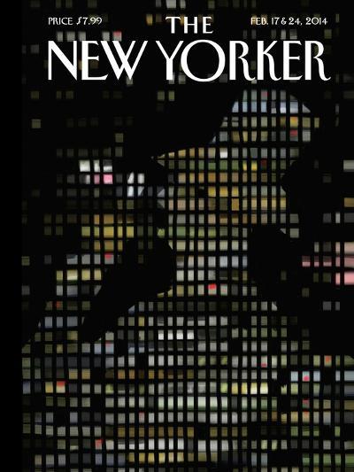 Night Windows - The New Yorker Cover, February 17, 2014-Jorge Colombo-Premium Giclee Print
