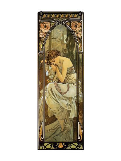Night-Alphonse Mucha-Premium Giclee Print