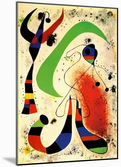 Night-Joan Miro-Mounted Print