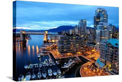 Nightfall Vancouver Canada--Stretched Canvas Print