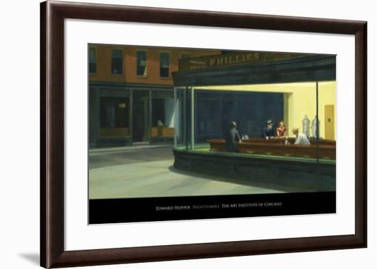 Nighthawks, c.1942-Edward Hopper-Framed Art Print