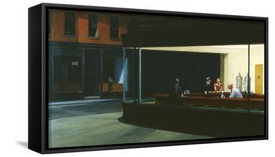 Nighthawks-Edward Hopper-Framed Canvas Print