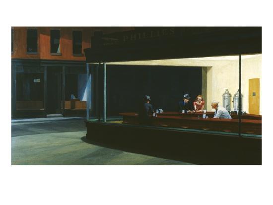Nighthawks-Edward Hopper-Giclee Print