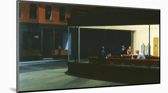 Nighthawks-Edward Hopper-Mounted Giclee Print