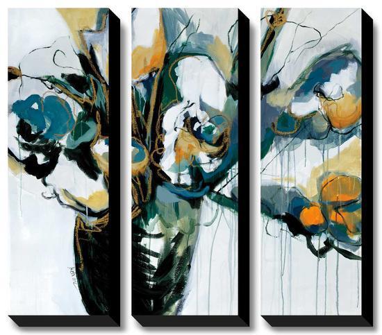 Nightingale Blooms-Angela Maritz-Canvas Art Set