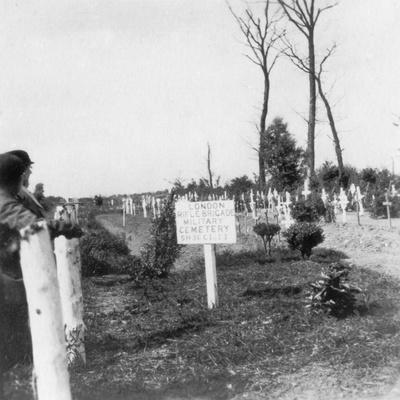 London Rifle Brigade Cemetery, Ploegsteert, Belgium, World War I, C1918