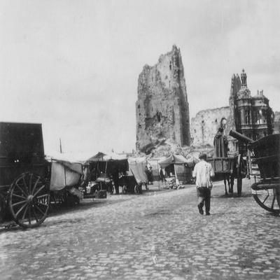 The Hotel De Ville, Arras, France, World War I, C1914-C1918