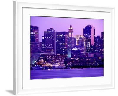 Nighttime Downtown Boston, MA-John Coletti-Framed Photographic Print