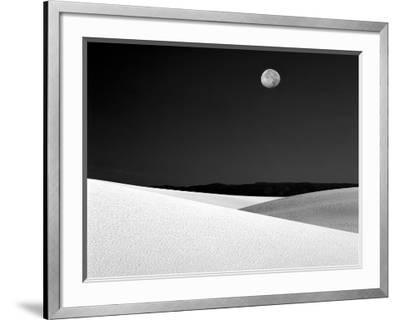 Nighttime with Full Moon Over the Desert, White Sands National Monument, New Mexico, USA-Jim Zuckerman-Framed Photographic Print