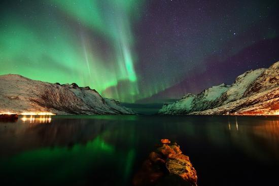 Nightview in the Fjord-John Hemmingsen-Photographic Print