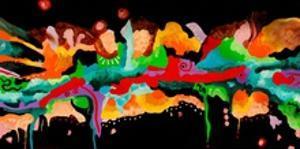Nightwalk, 2013, acrylic, painting
