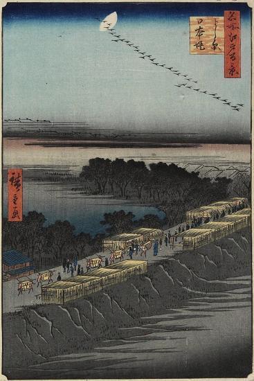 Nihon Embankment, Yoshiwara, April 1857-Utagawa Hiroshige-Giclee Print