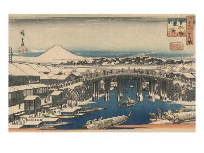 Nihonbashi, Clearing after Snow-Ando Hiroshige-Giclee Print