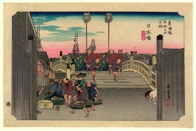 Nihonbashi-Utagawa Hiroshige-Giclee Print