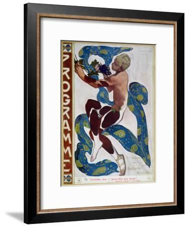 "Nijinsky's Faun Costume in ""L'Apres Midi D'Un Faune"" by Claude Debussy-Leon Bakst-Framed Giclee Print"