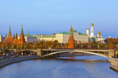 Kremlin on Sunset - Autumn in Moscow Russia