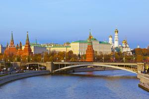 Kremlin on Sunset - Autumn in Moscow Russia by Nik_Sorokin