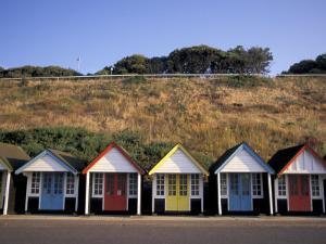 Beach Huts at Bournemouth, Dorset, England by Nik Wheeler