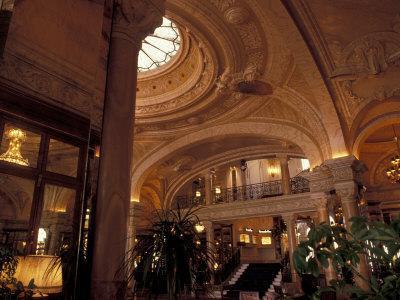 Interior Details of Hotel de Paris, Monte Carlo, Monaco