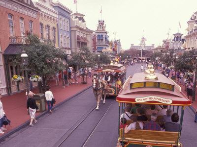 Main Street USA, Walt Disney World, Magic Kingdom, Orlando, Florida, USA