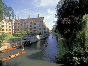 Punting on the Backs, Cambridge, England by Nik Wheeler