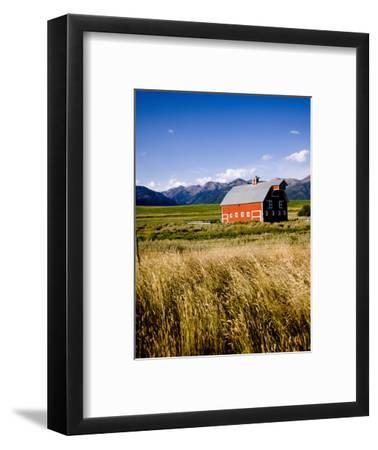 Red Barn in Field Near Joseph, Wallowa County, Oregon, USA