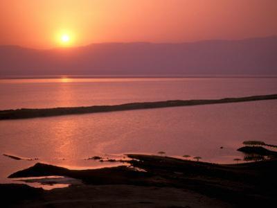 Sunrise over Dead Sea, Dead Sea, Israel by Nik Wheeler