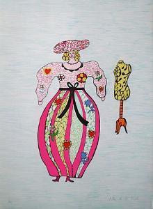 Mechant-Mechant - Femme et Mannequin by Niki De Saint Phalle