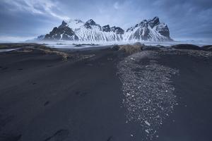 Black Lava Sand Dunes the Vestrahorn by Niki Haselwanter